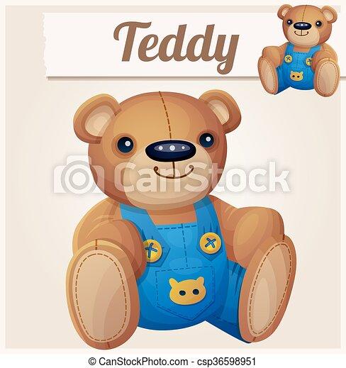 Teddy bear in overalls - csp36598951