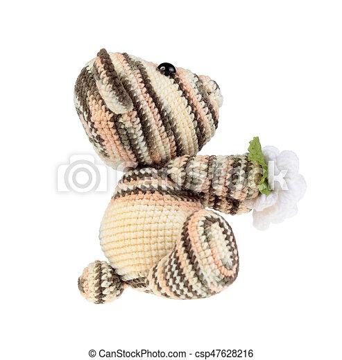 Teddy Bear isolate on white - csp47628216