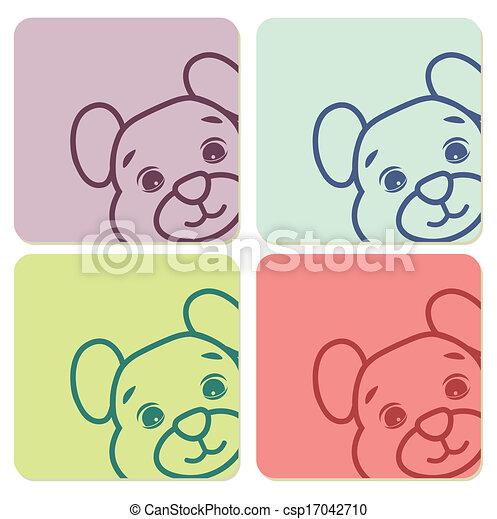 teddy bear labels - csp17042710