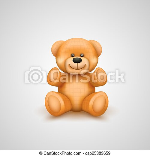 Teddy bear on a white background - csp25383659