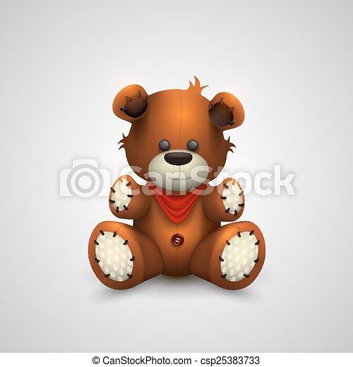 Teddy bear on a white background - csp25383733