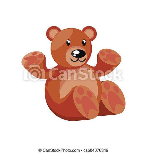 teddy bear on white background - csp84076349