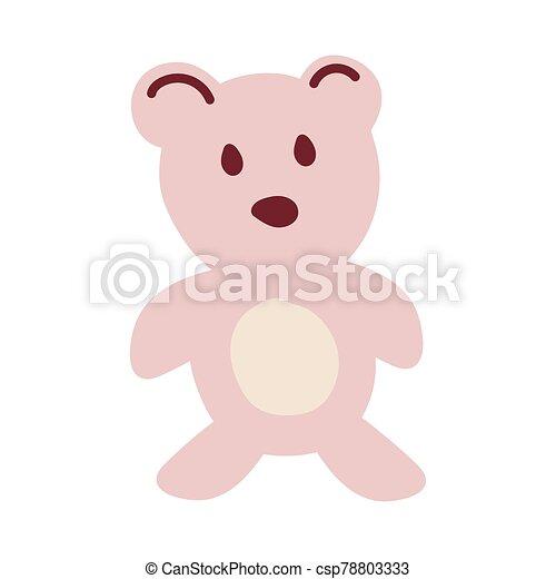 teddy bear on white background - csp78803333