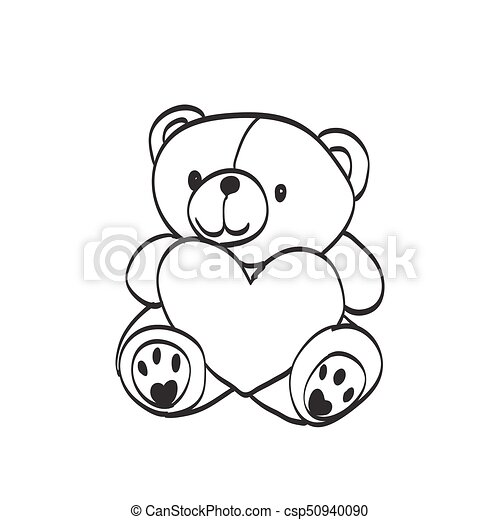 Teddy bear sketch drawing on a white background teddy bear sketch drawing on a white background csp50940090 altavistaventures Image collections