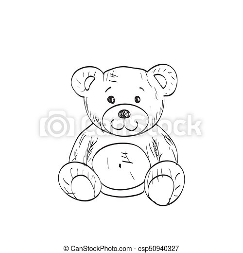 Teddy bear sketch drawing on a white background teddy bear sketch drawing on a white background csp50940327 altavistaventures Image collections