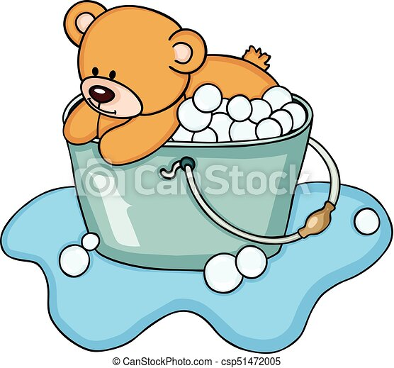 teddy bear taking a bubble bath scalable vectorial image rh canstockphoto ie bubble bath clipart free dog bubble bath clipart