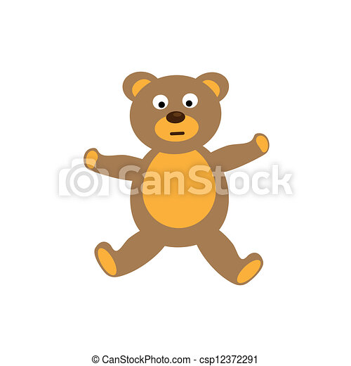 Teddy bear toy on white background - csp12372291