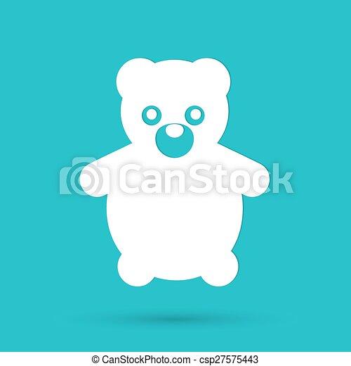 Teddy Bear Toy - Vector icon isolated - csp27575443