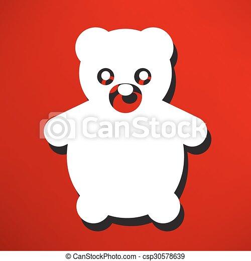 Teddy Bear Toy - Vector icon isolated - csp30578639