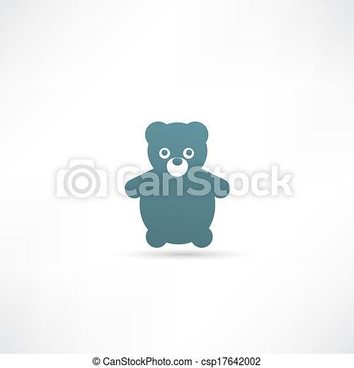 Teddy Bear Toy - Vector icon isolated - csp17642002