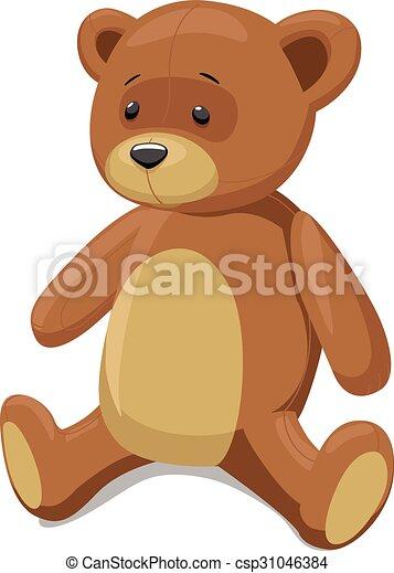 Teddy bear vector illustration - csp31046384
