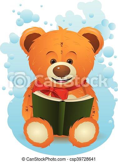 Teddy Bear with Book - csp39728641