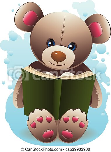 Teddy Bear with Book - csp39903900