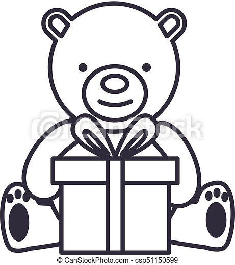 Baby bear stock illustration. Illustration of open, cute - 1799370