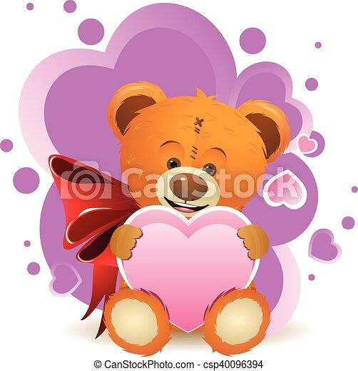 Teddy Bear with Heart - csp40096394