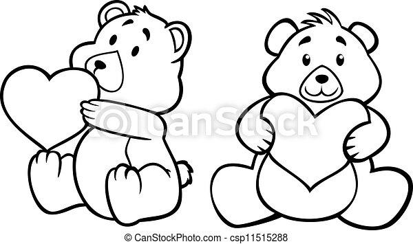 teddy bear with heart - csp11515288