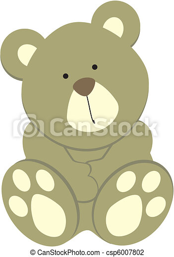 teddy bear03 - csp6007802