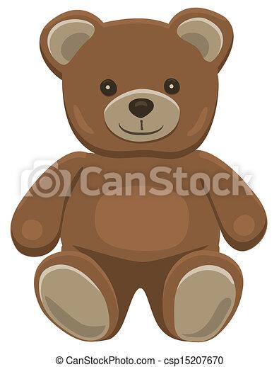 teddy beer, zittende  - csp15207670
