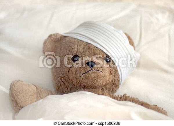 Teddy in hospital - csp1586236
