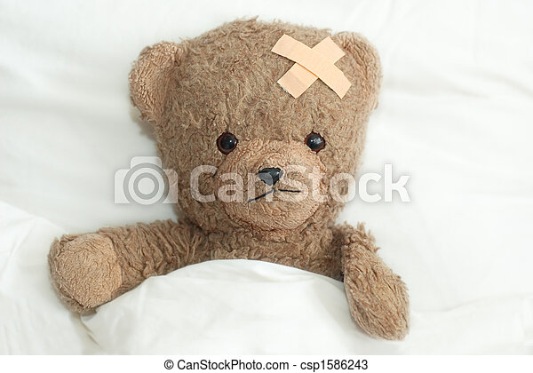 teddy is sick - csp1586243