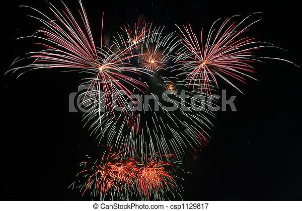teddybear fireworks - csp1129817
