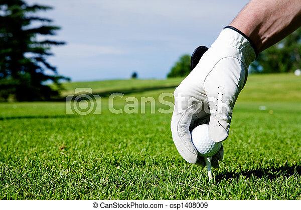 Mano de golf - csp1408009