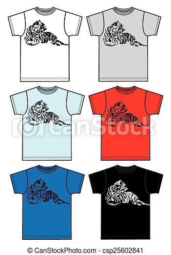 tee for men or boys with a tiger - csp25602841