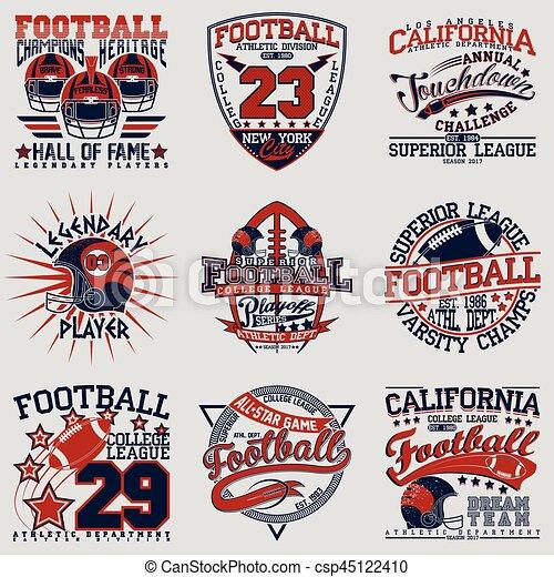 3865eed20 Tee shirt print designs. Set of grunge sport t-shirt graphic designs ...