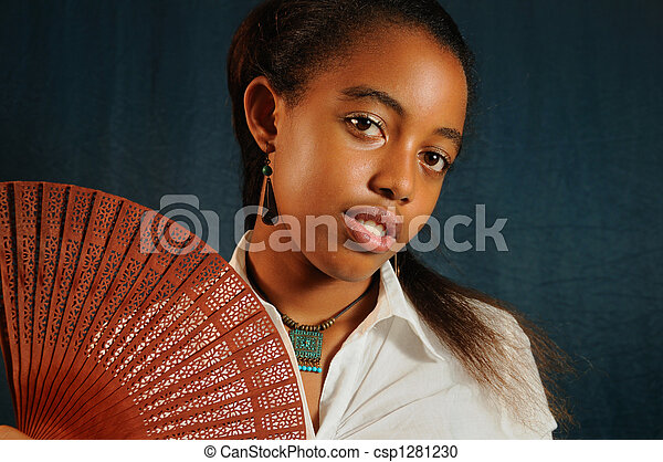 young african teen