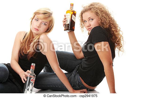 Teen alcohol addiction - csp2941975