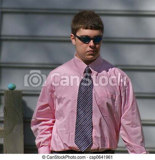 Teen boy in shirt and tie. Teen boy with sunglasses wearing ...