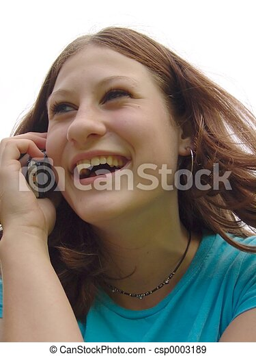Teen & Cell Phone - csp0003189