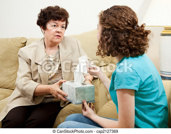 Teen Counseling - Have a Tissue - csp2127369
