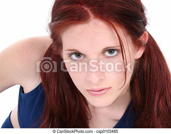 Teen Girl Close Up - csp0103485