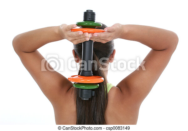 Teen Girl Exercise - csp0083149