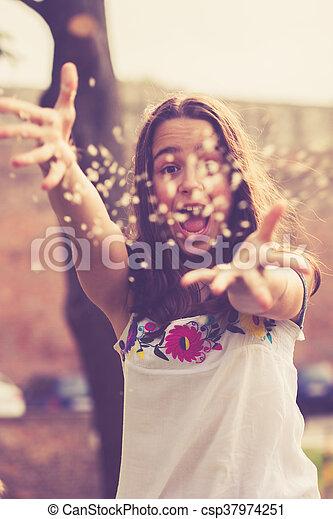 teen girl having fun - csp37974251