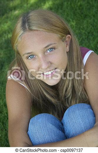 Teen Girl - csp0097137