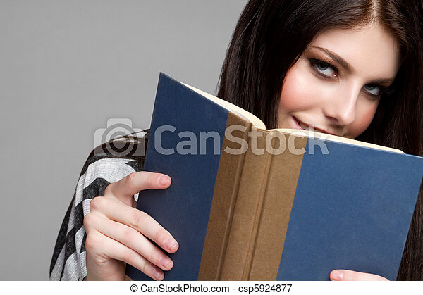 Teen Girl Reading - csp5924877