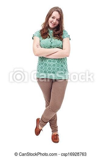 Teen girl standing - csp16928763
