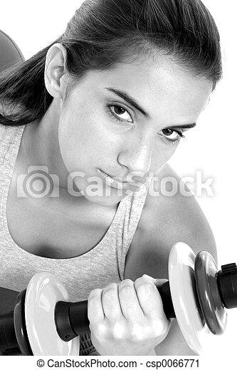 Teen Girl Weights - csp0066771