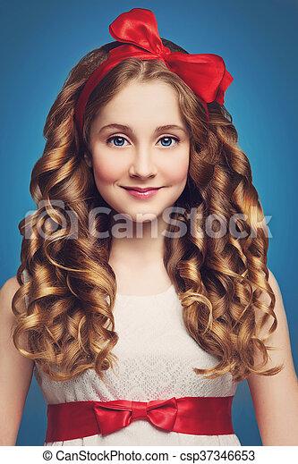 Teen Girl With Curly Hair