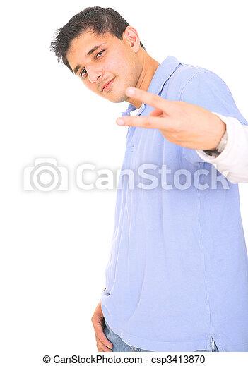 Teen Posing Punk Style - csp3413870