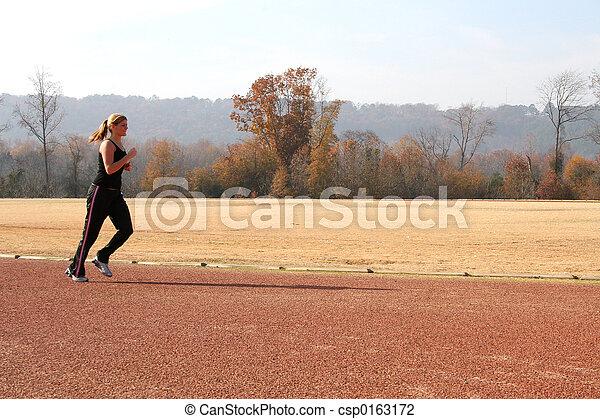 Teen Woman Track - csp0163172