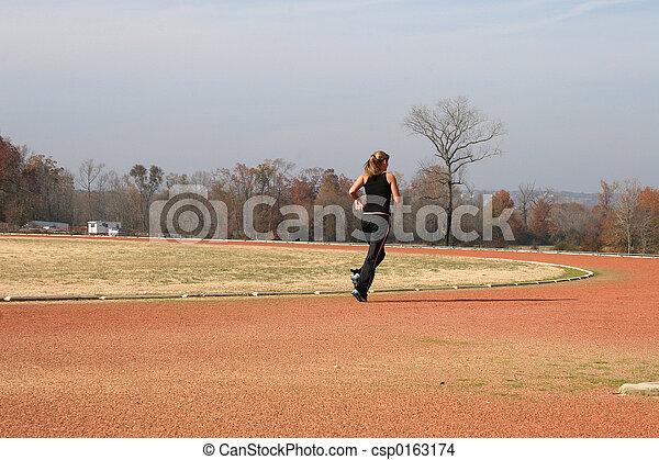 Teen Woman Track - csp0163174