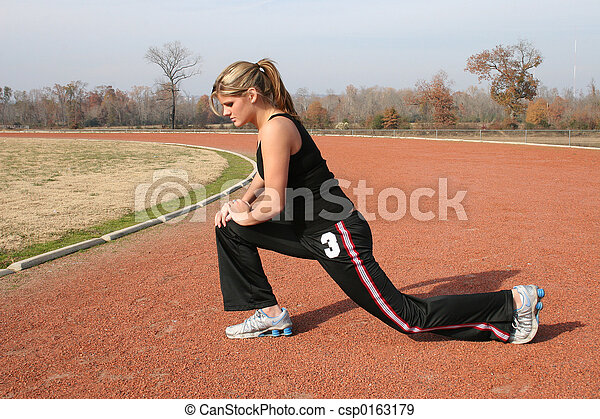 Teen Woman Track - csp0163179