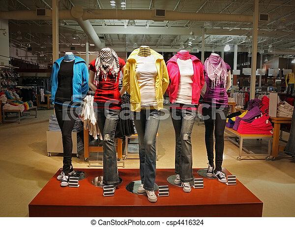 Teenage fashion store - csp4416324