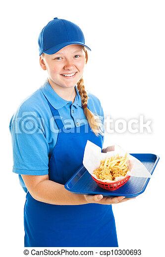 Teenage Fast Food Worker - csp10300693