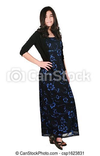 Teenage girl in dress - csp1623831