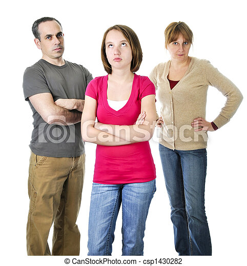 Teenage girl in trouble with parents - csp1430282