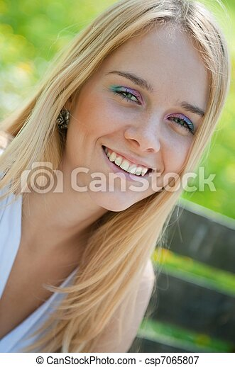 Teenage girl portrait - csp7065807
